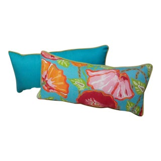 Thibaut Nassau Fabric Lumbar Pillows - A Pair
