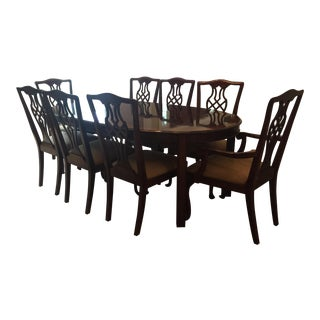 Drexel Heritage Dining Room Table & Chairs - Set of 9