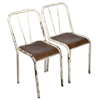 French Industrial Stacking Chairs - A Pair