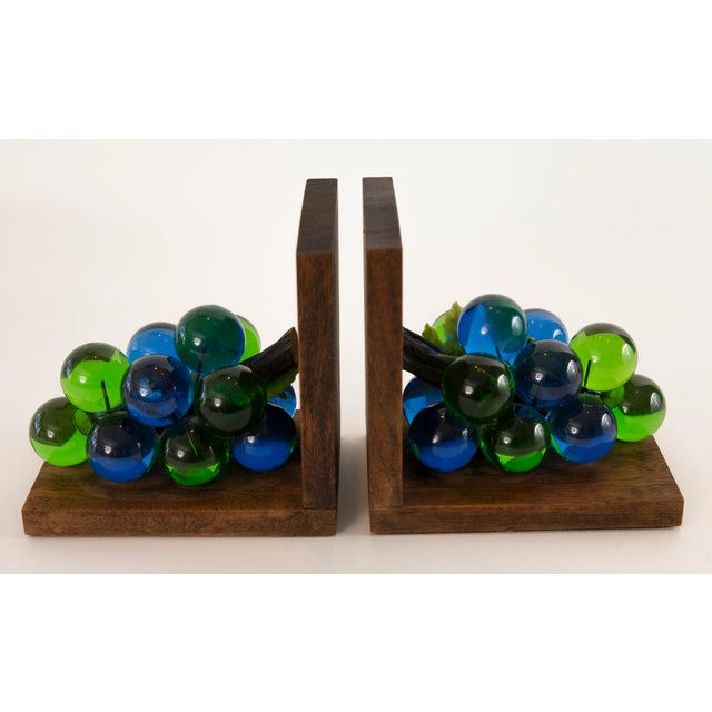 Mid-Century Lucite Grape Bookends- A pair - Image 3 of 10