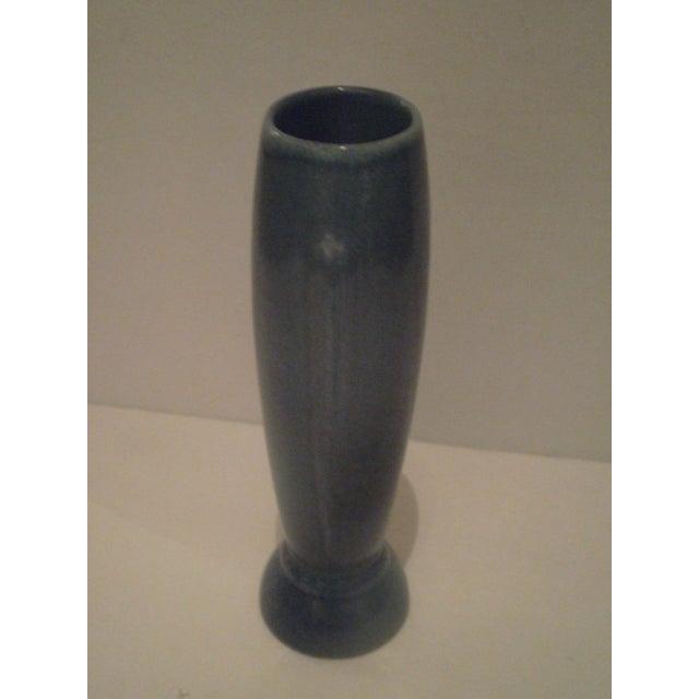 Image of Vintage Blue Frankoma Vase