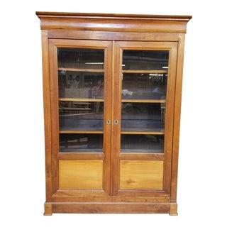 Louis Philippe Glass Book Case