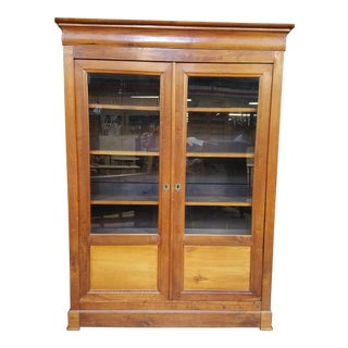 Louis Philippe Glass Book Case