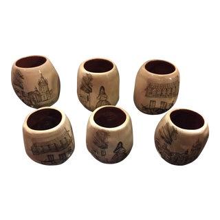 Peruvian Small Terra Cotta Cups - Set of 6