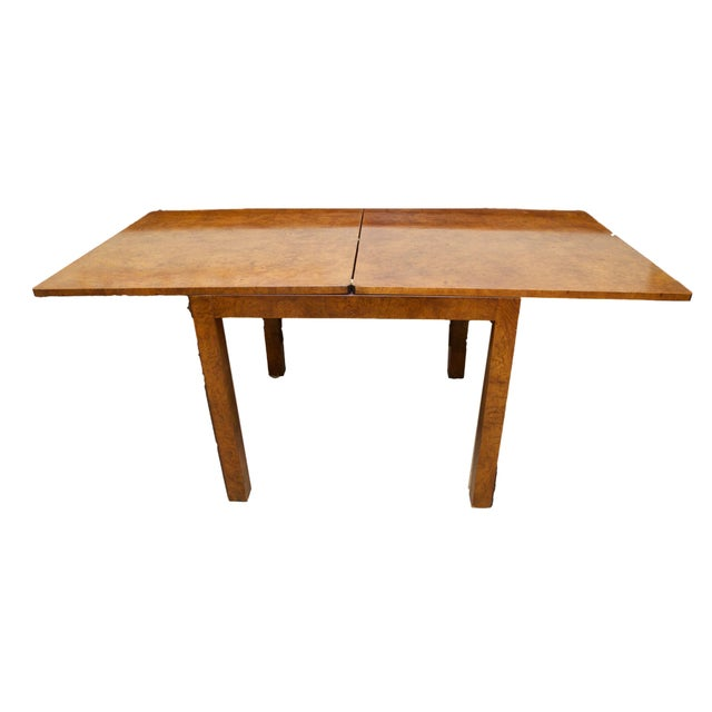 Burl Wood Fliptop Expandable Dining Table - Image 1 of 9