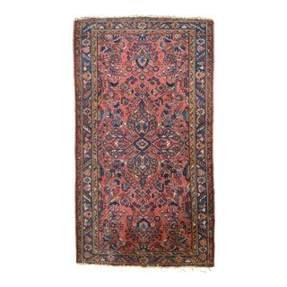 """Antique Persian Hamadan Lilihan Floral Rug - 3'6"""" X 6'5"""""""