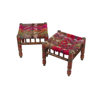 Anglo-Indian Stools - A Pair