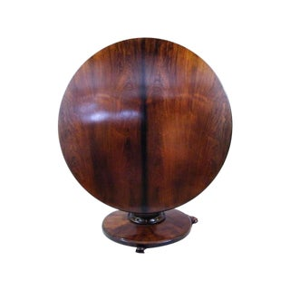 English Rosewood Flip-Top Tea Table