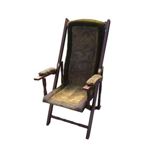 English Walnut Folding Chair
