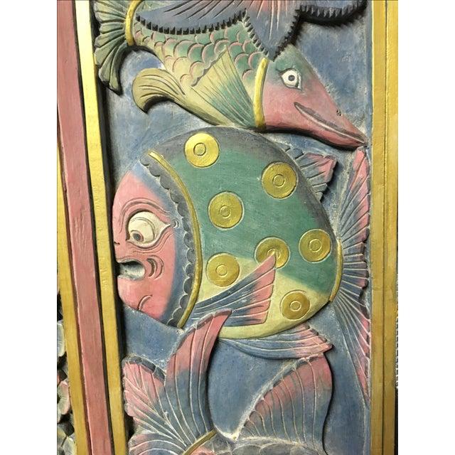 Balinese Hand Carved Sealife Motif Door Panels - Image 8 of 9