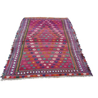 Vintage Turkish Kilim Rug - 4′9″ × 7′6″