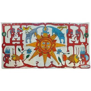 Monumental 1973 Carlos Paez Vilaro Colorful Tapestry