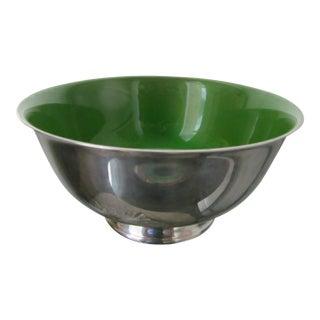 Reed & Barton Green Enameled Revere Bowl