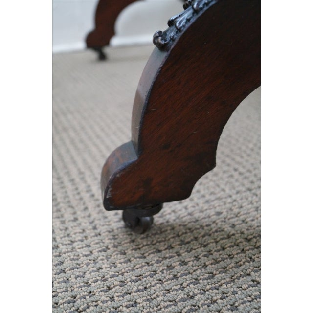 Image of Antique Mahogany Classical Carved Cheval Mirror