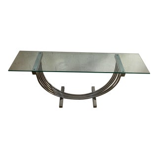 Vintage Entry Way Chrome Console