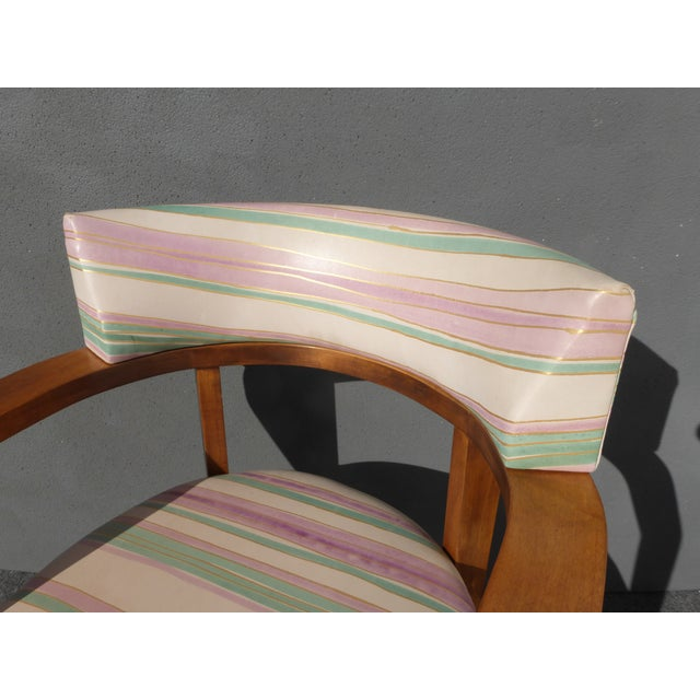 Mid-Century Danish Modern Leather Arm Chairs - 4 - Image 2 of 11