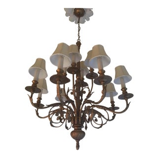 Vintage Metal Arts Chandelier