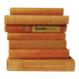 Vintage Chestnut Brown & Titian Colored Books - Set of 7