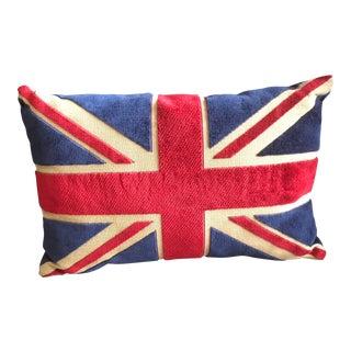 Red & Blue British Velvet Pillow