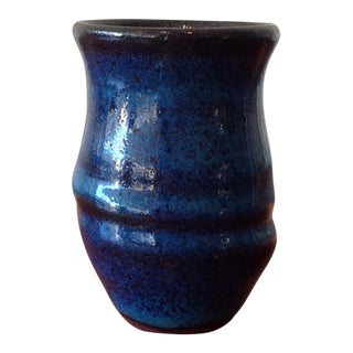 Hand Crafted Blue Vase