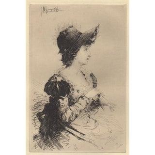"Ignaz Marcel Gaugengigl ""Summer"" Original Etching C.1880"