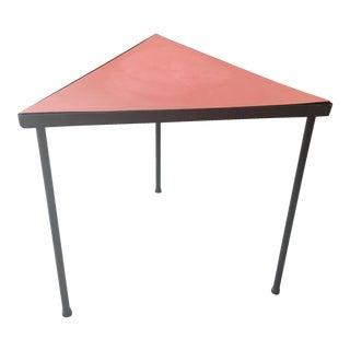 McCobb Style Mid-Century Iron Triangle Table
