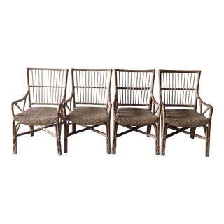 Rattan Dining Chairs - Set of 4