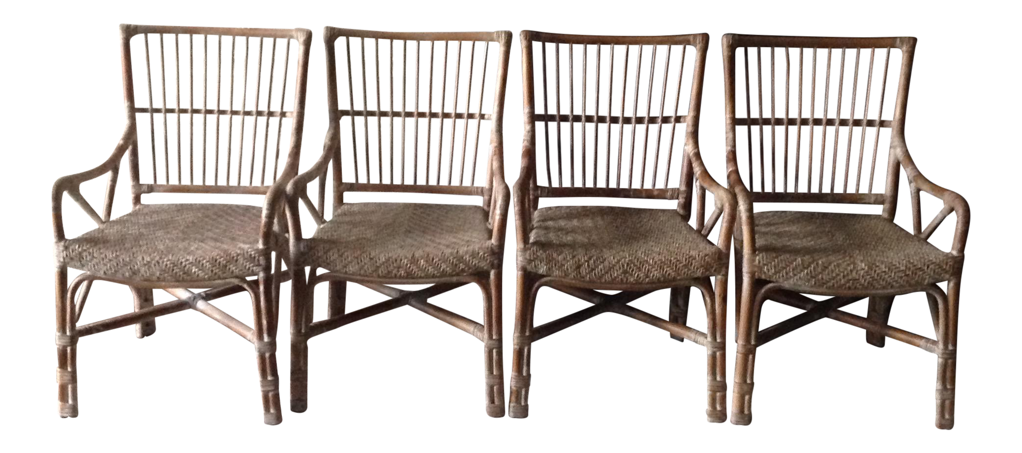 rattan dining chairs set of 4