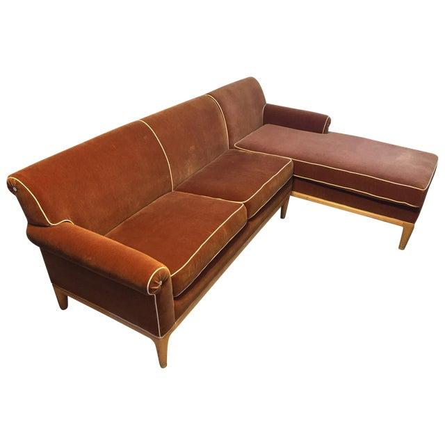 Roger Thomas L-Shape Orange Sectional Sofa - Image 1 of 5
