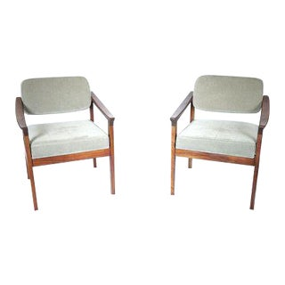 Mid-Century Modern Arm Chairs - A Pair