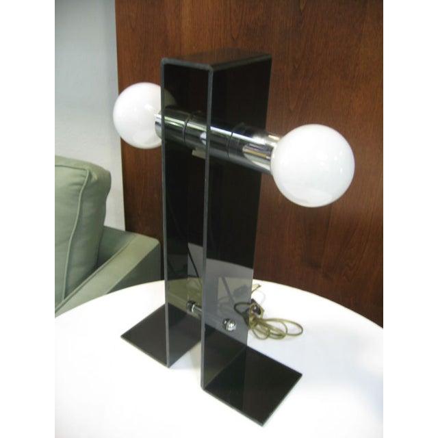 Italian Fume Acrylic Lamp - Image 3 of 4