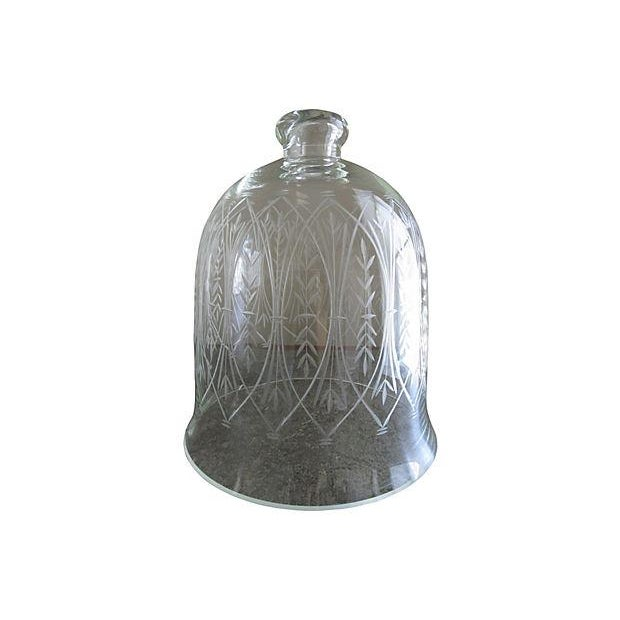 Vintage Etched Glass Nesting Domes - S/2 - Image 3 of 8