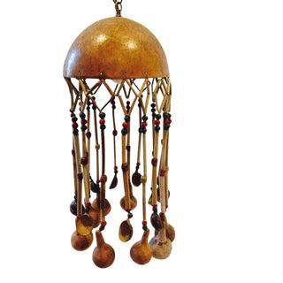 Vintage Tribal Gourd Pendant Light Swag Lantern