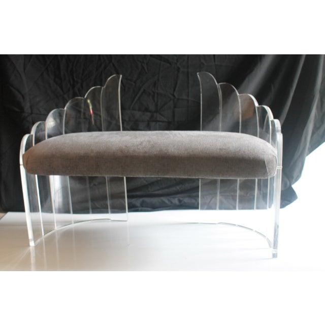 Image of Charles Hollis Jones Vintage Lucite Settee Bench