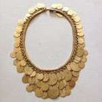 Image of Vintage Christian Dior Gold Tone Coin Necklace