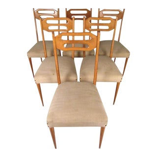 Sculptural Italian Modern Dining Chairs - Set of 6