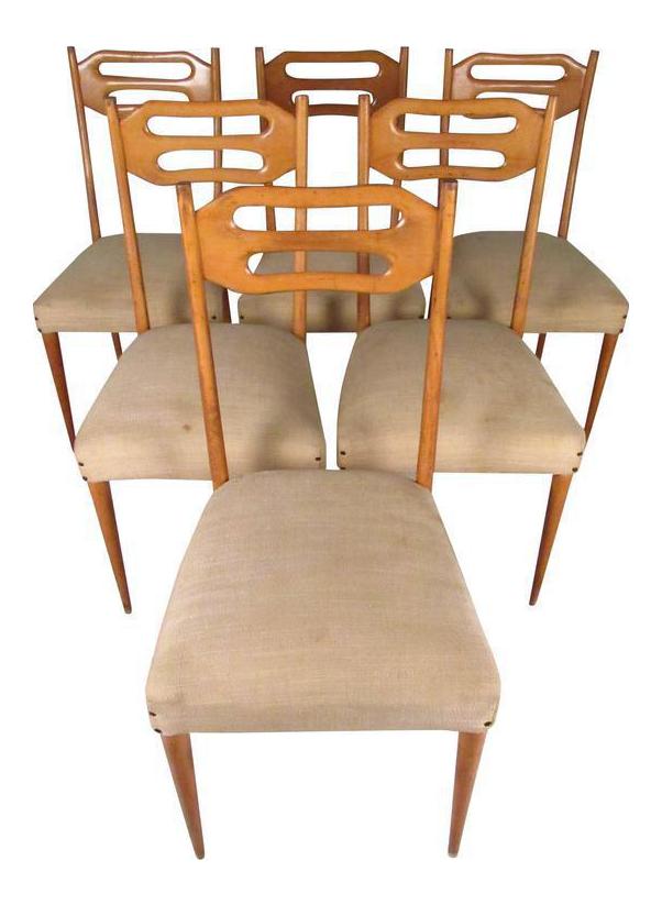 sculptural italian modern dining chairs set of 6