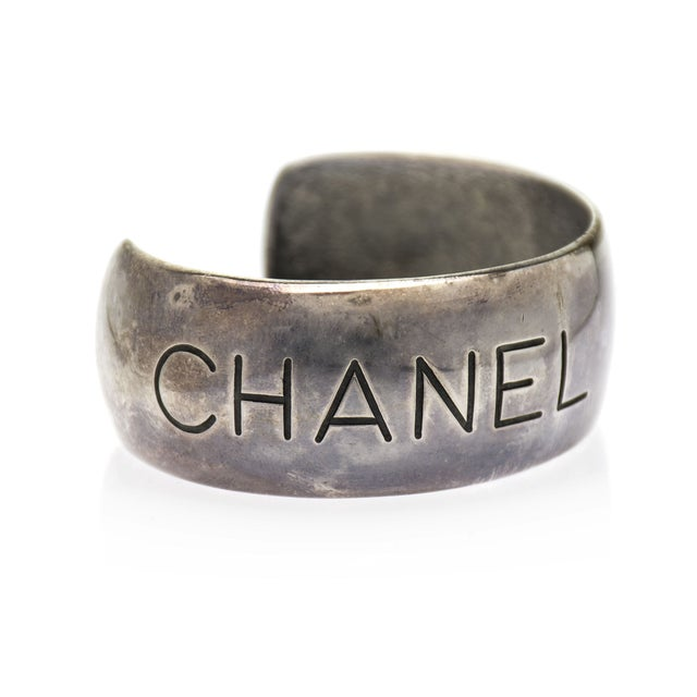 Image of Chanel Vintage Silver Cuff