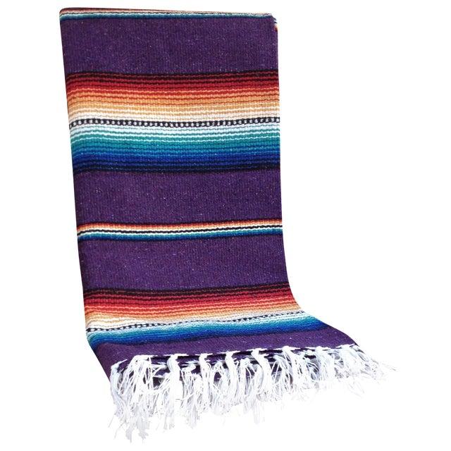 Purple Striped Serape-Style Throw - Image 1 of 8
