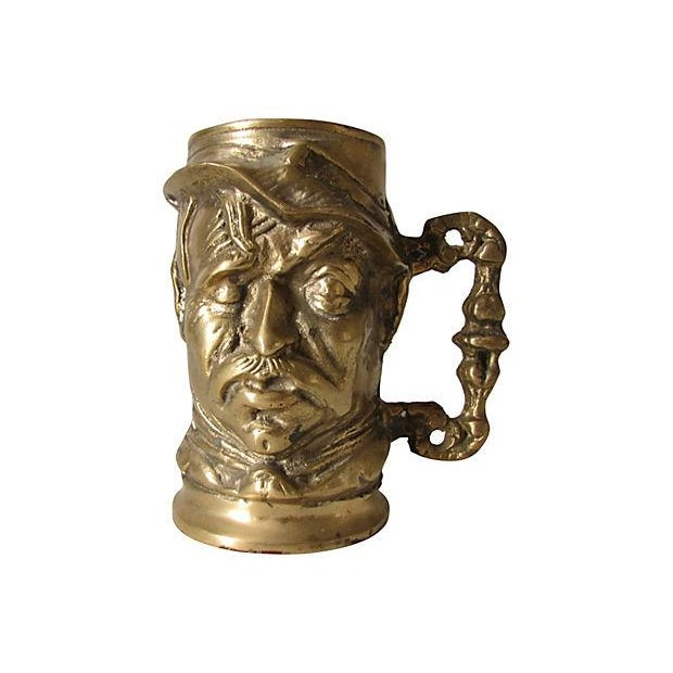 Old Man Solid Brass Mug - Image 1 of 3