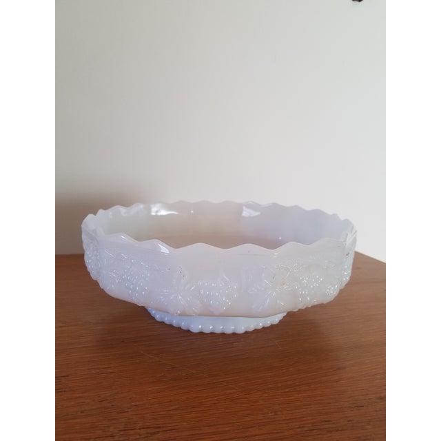 Image of Anchor Hocking White Milk Glass Serving Dish