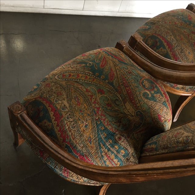 Vintage Bohemian Occasional Chairs - A Pair - Image 3 of 7