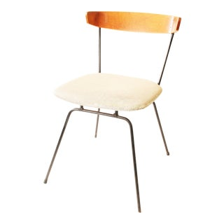 Mid Century Modern Iron & Vinyl Side Chair