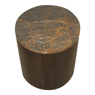Prospect Side Table with Stone Top by Lawson-Fenning