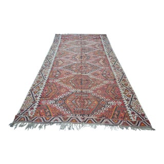 Large Turkish Antique Kilim Rug - 6′3″ × 12′7″