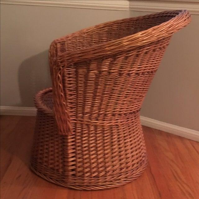 Vintage Rattan Barrel Arm Chair Chairish