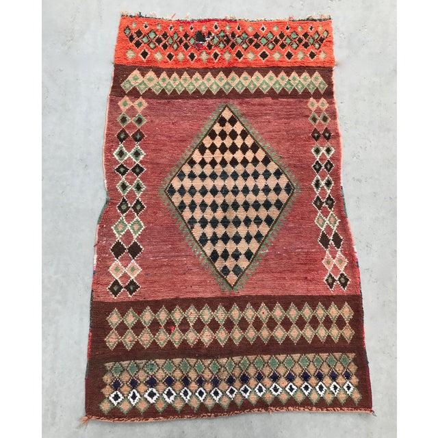 "Vintage Moroccan Boujad Rug - 4'9"" x 8'2"" - Image 5 of 7"