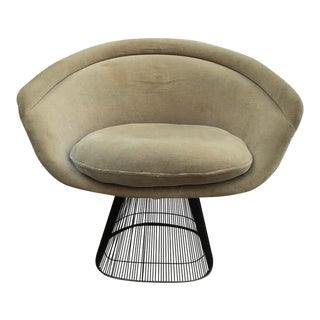 Platner for Knoll Sandstone Velvet Lounge Chair
