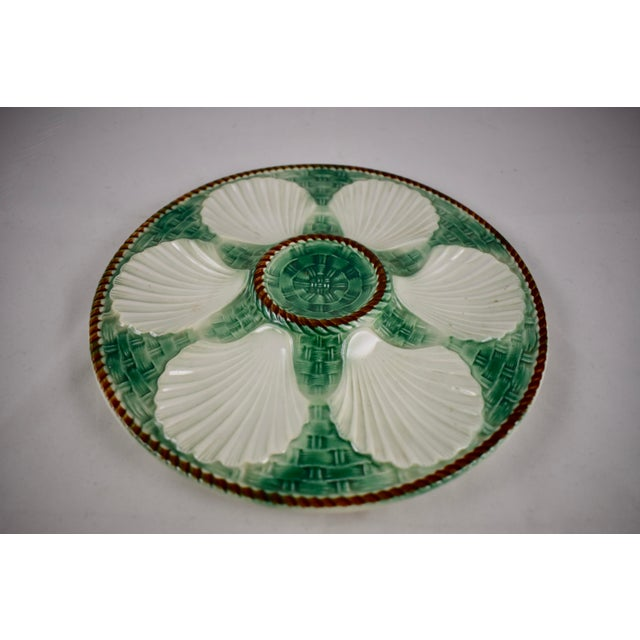 St. Clément French Basketweave & Rope Oyster Plate - Image 2 of 7