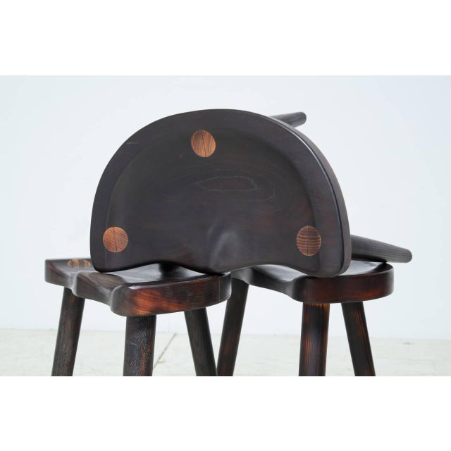 Robert Roakes Handcrafted Tripod Studio Stools, USA, 1970s - Image 6 of 7
